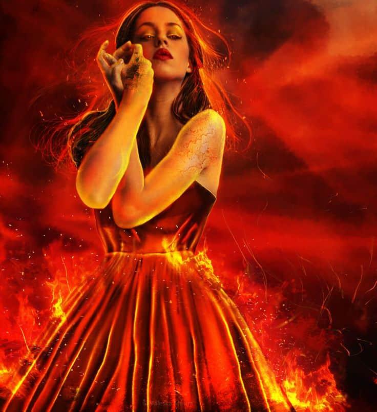 женщина стихии огонь