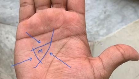 треугольник на линии жизни